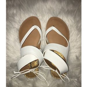 Qupid white sandals